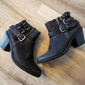 Ruff Hewn Dikson Black Buckled Ankle Boot